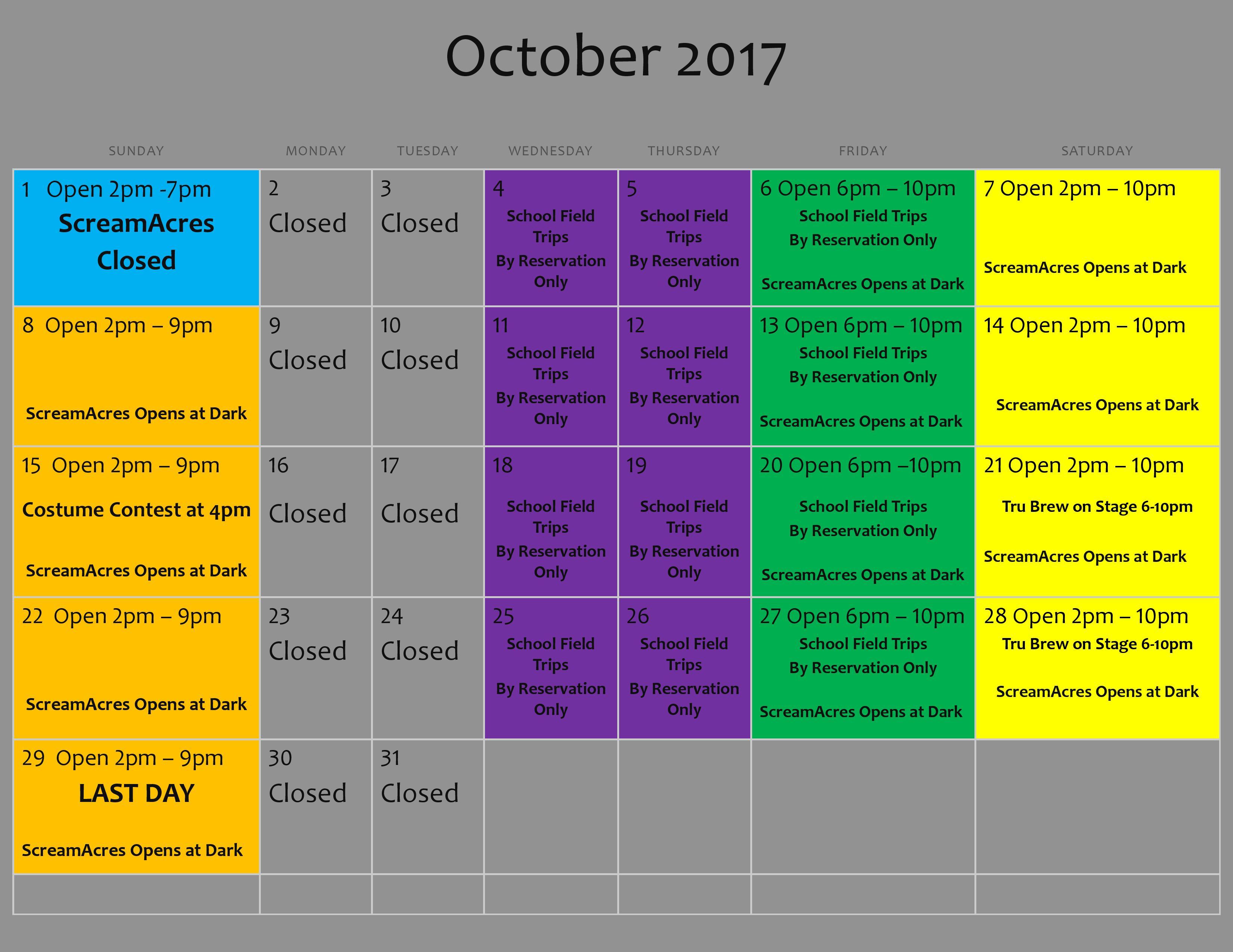 2017 ScreamAcres Calendar October-page-001